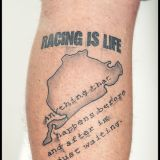 Crazy Colors-Tattoo Wade -NBR-RACING is LIFE