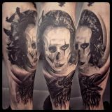 Crazy Colors-Tattoo Wade-The Crow in black and grey