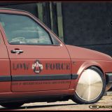 Golf 2 - Low Force Logo und Pinstripings Detail
