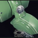 NSU Lambretta - originalgetreues Pinstriping Fenderdetail- ©Crazy Colors 2014