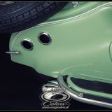 NSU Lambretta - originalgetreues Pinstriping Heckdetail- ©Crazy Colors 2014