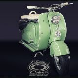 NSU Lambretta - originalgetreues Pinstriping frontview- ©Crazy Colors 2014