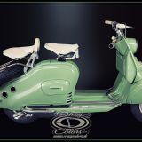 NSU Lambretta - originalgetreues Pinstriping sideview- ©Crazy Colors 2014